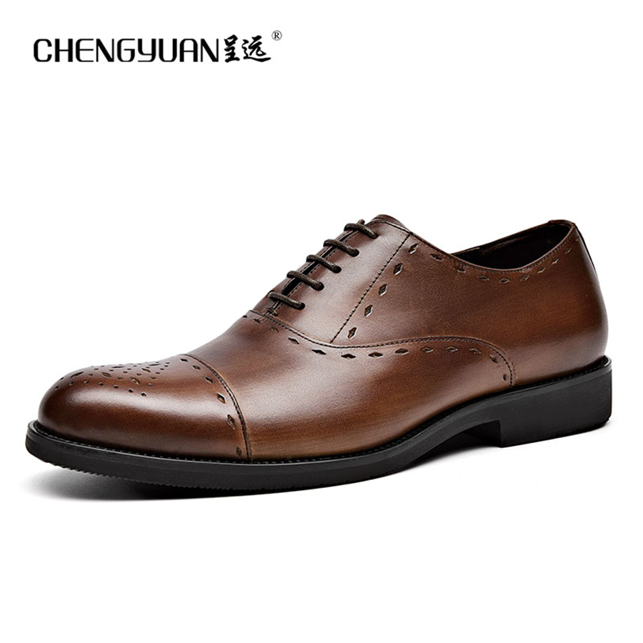 Men genuine flats leather shoes luxury business brown black lace up Dress Shoe men large size Wedding Shoes 899 good quality men genuine leather shoes lace up men s oxfords flats wedding black brown formal shoes
