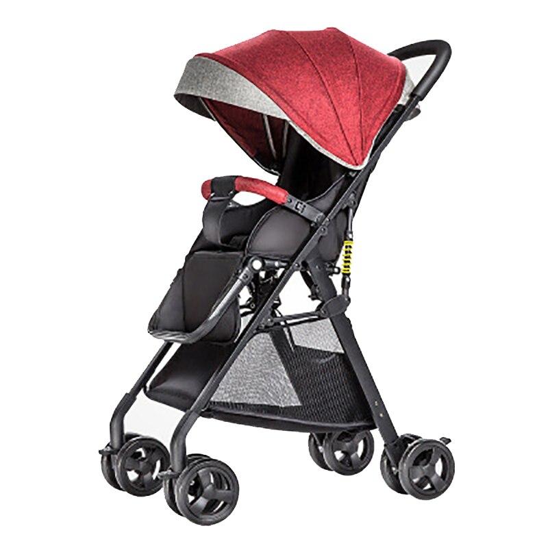 Быстрая доставка! Светильник для путешествий, детская коляска, 8 шт., подарки, переносная, может сидеть и лежать, складная детская коляска с высоким пейзажем - 6
