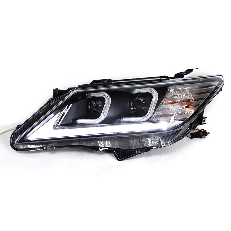 Ownsun New Eagle Eyes LED DRL Bi-xenon Projector Lens Headlights For Toyota Camry 2012-2013 ownsun new style tear drop led projector lens headlight for new ford focus 2012 2013