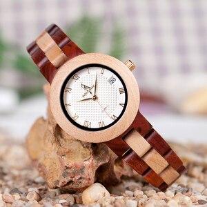 Image 2 - Reloj mujer BOBO ptak kobiet zegarki japonia ruch zegarki drewniane Band kwarcowy drewna zegarek dla kobiet C M19