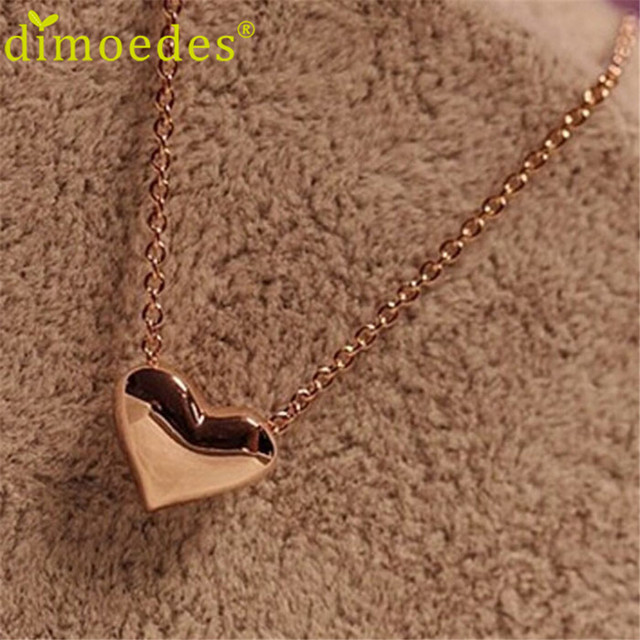 Diomedes Newest ClassyJewelry Necklace 1pcs Fashion Women Gold Heart Bib Stateme