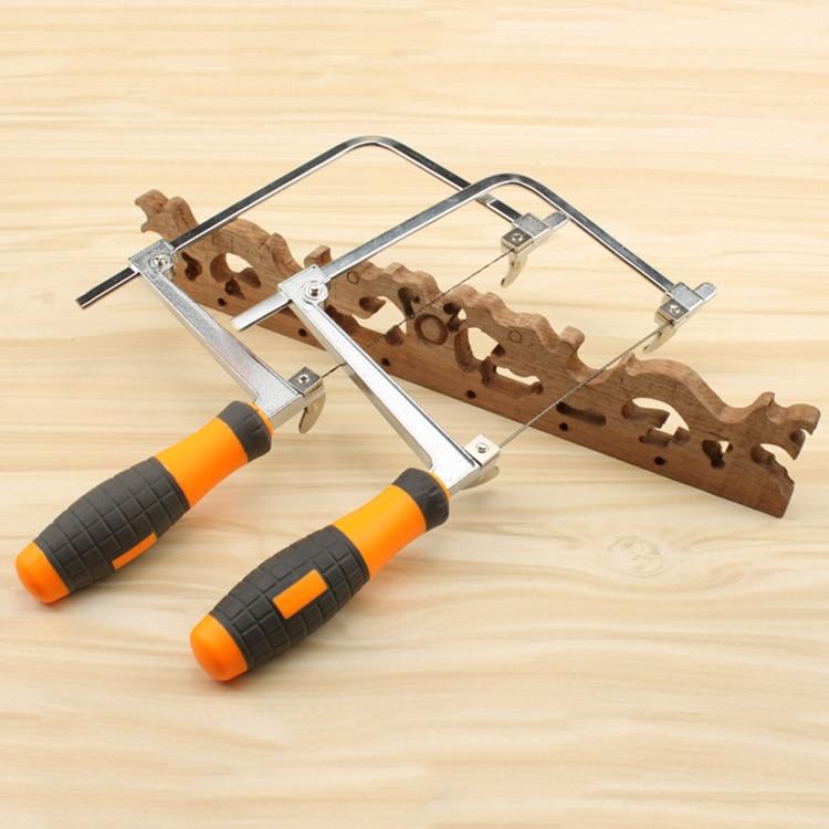 Mini pull flower saw U-shaped hand saw Woodworking Jig saw Wire saw DIY model