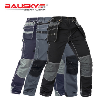 Bauskydd Working Clothes Men's Black Workwear Pants Multi Pockets Working Uniforms Pockets For Tools Free Shipping 1