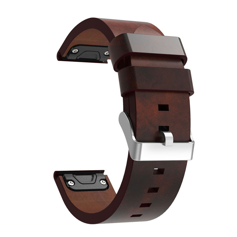 2017 Hot Sale Fashion Luxury Leather Strap Replacement Watch Band With Tools For Garmin Fenix 5 GPS silicone watch band strap for garmin forerunner 910xt gps triathlon running swim cycle training sports watch with tools