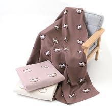 Детские одеяла хлопчатобумажные для новорожденных кроватки постельные принадлежности одеяло милый мультфильм новорожденных мальчиков и девочек вязаная корзина для коляски Чехлы 100*80 см детское одеяло