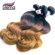 2 pcs/lot Brazilian Virgin Hair Body Wave Ombre Virgin Hair Weave Bundles Free Shipping Brazilian Ombre Hair Extension Body Wave
