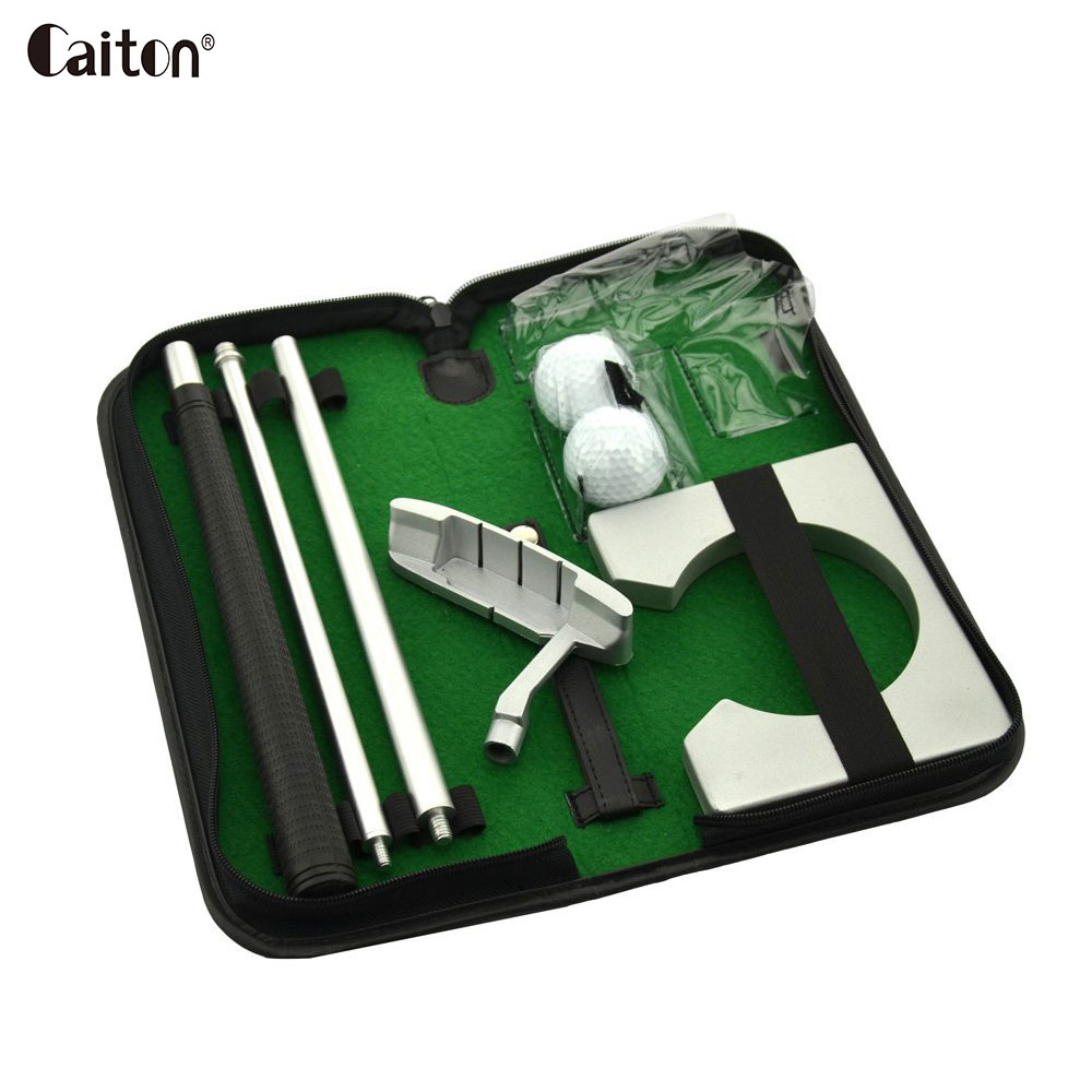 Caiton portable golf putter set kit with ball hole-cup Indoor golf putter training golfers gift