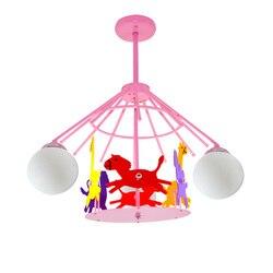 Cartoon karuzela dla dzieci pokój lampa sufitowa kreatywny dla dzieci pokój oświetlenie sufitowe chłopiec dziewczyna pokój lampy sufitowe