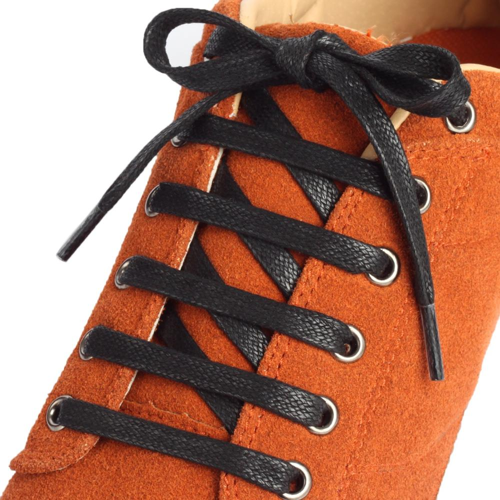 1 Pair Waxed Flat Shoelaces Leather Waterproof Casual Shoe Laces Unisex Boots Shoelace Length 60 80 100 120 140 160 180CM