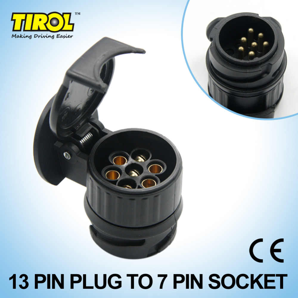 small resolution of tirol 13 to 7 pin trailer adapter black plastic trailer wiring connector 12v towbar towing plug