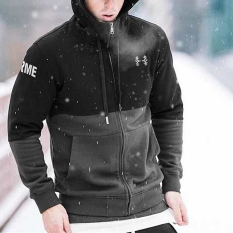 dd1f89adabe Detector Mens Fitness Breathable Hooded Sweatshirt Running Jackets Zipper  Slim Fit Pullover Hoodies Gym Sportswear-in Hiking Jackets from Sports ...