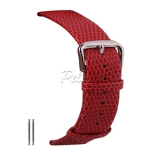 Pelle 16mm 18mm 20mm 22mm Lizard Grained Leather Watch Strap Slim Waterproof Genuine Band