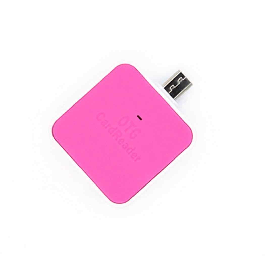 新しい OTG スマート USB 2.0 + マイクロ USB カードまで 64 ギガバイトリーダー PC と携帯電話のサポート T フラッシュ/SD カード