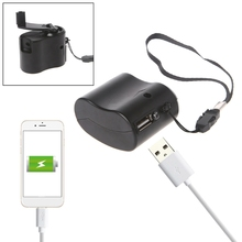 Manual Outdoor Phone Emergency Charger Portable Hand Power USB Dynamo Crank For Phone