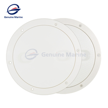 Marine Boat RV ABS White  Round 4″ 5″ 6′ Access Hatch Cover Screw Out Deck Inspection Plate