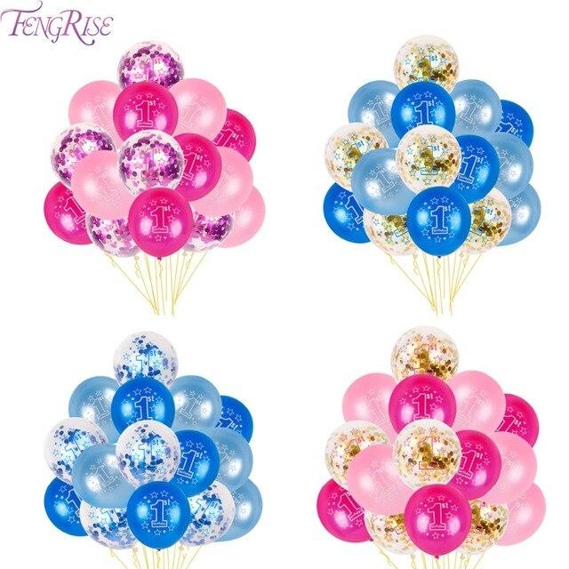 FENGRISE Baloons 1st Compleanno Palloncino Aria 2nd Un 1 2 Anni Prima Festa Di C