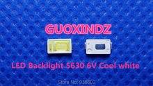 Para samsung led lcd retroiluminação tv aplicação led backlight 0.6 w 6 v 5630 branco fresco led tv backlight tv aplicação