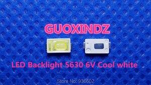 Image 1 - Pour SAMSUNG LED LCD rétro éclairage TV Application LED rétro éclairage 0.6W 6V 5630 blanc froid LED LCD TV rétro éclairage Application de télévision