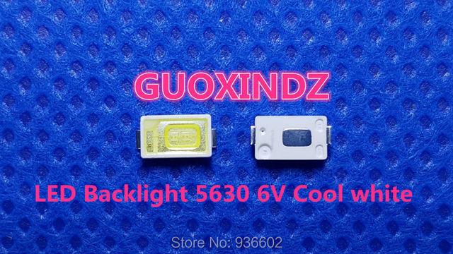 Pour SAMSUNG LED LCD rétro éclairage TV Application LED rétro éclairage 0.6W 6V 5630 blanc froid LED LCD TV rétro éclairage Application de télévision