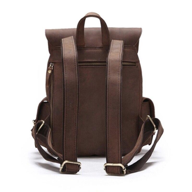 ใหม่100%ธรรมชาติหนังเป้วินเทจผู้หญิงหนังแท้กระเป๋าเป้สะพายหลังสาวสบายๆร้อนกระเป๋านักเรียนที่มีคุณภาพสูงในชีวิตประจำวันกลับกระเป๋า-ใน กระเป๋าเป้ จาก สัมภาระและกระเป๋า บน   3