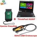 2017 vpecker easydiag obdii ferramenta de diagnóstico completo suporte wi-fi sem fio + thinkpad x220t i5 tablet + 98as usb inspeção endoscópio