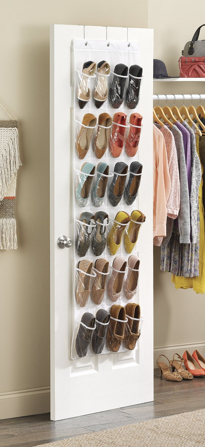 Shoe Organizer On Wall Bargain 24 Pockets Closet Wall Hanging Storage Bag Over The Door