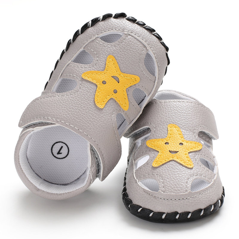 New Fashion Newborn Baby Boy Girl Soft Sole Shoes Summer Leather Sandals Clogs Toddlers Children  Trainers Size 0-18 Months