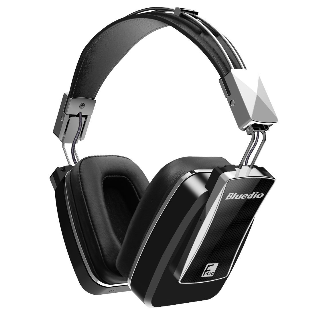 Top Deals Bluedio F800 Active Noise Cancelling Foldable Over-ear Wireless Bluetooth Headphones with Mic(Black) orignal bluedio t2 foldable over the ear bluetooth headphones bt 4 1 fm radio