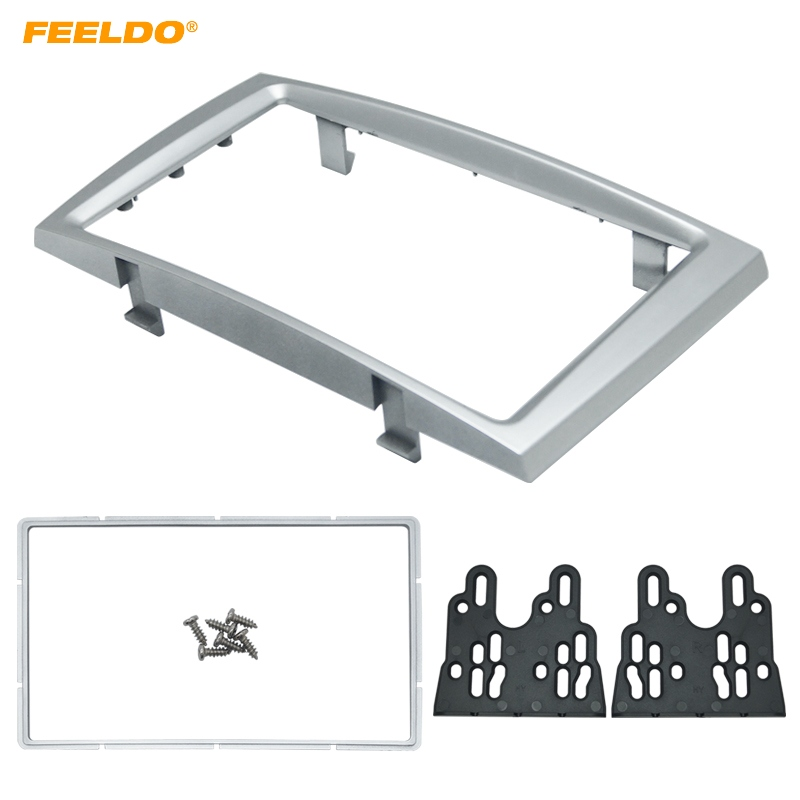 FEELDO Car Double Din DVD Radio Fascia Frame for PEUGEOT 308/408 Dashboard Panel Mount Installation Adapter Trim Kit #HQ5191 image