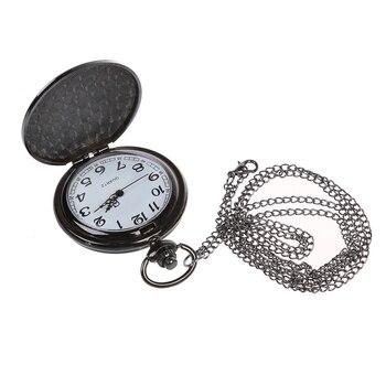 cfa458156e42 Práctica única Vintage para hombre mujer analógico reloj de bolsillo  colgante de collar de cadena de regalo