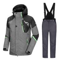 Для мужчин лыжный костюм Сноубординг наборы для ухода за кожей для мужчин непромокаемая зимняя куртка брюки для девочек для мужчин спортив