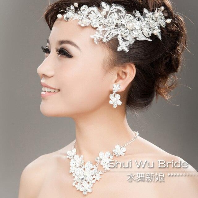 Top Perle strass fleur accessoire de cheveux mariée Accessoires  SN91
