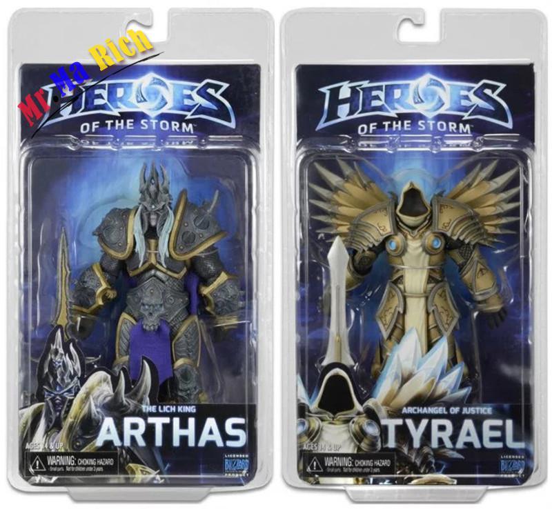 17 Cm Gioco Wow Scuro Tyrael Serafini Arcangelo Il Re Dei Lich Arthas Pvc Action Figure Giocattoli Regali Modello Collezioni