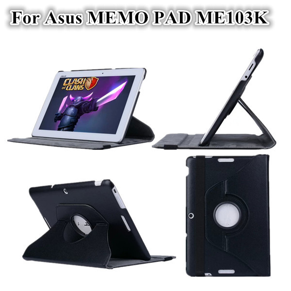 NEW ME103K Stand Leather Case For ASUS MeMO Pad 10 ME103K 10.1 inch Tablet PC Cover Case +screen protectors