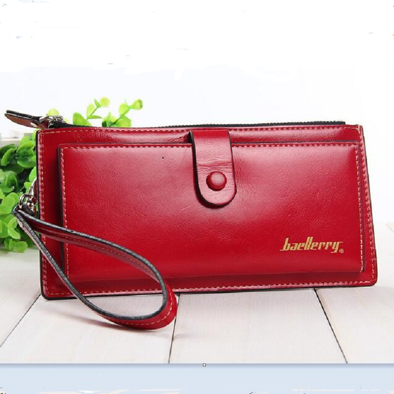 patent Leather Women Long Wallet oil wax hasp Zipper female Purse coin Card candy lady clutch bag wrist strap for girl student new arrival button wallet lady multifunctional purse long style zipper hasp oil wax cowhide closure huge capacity fashion han