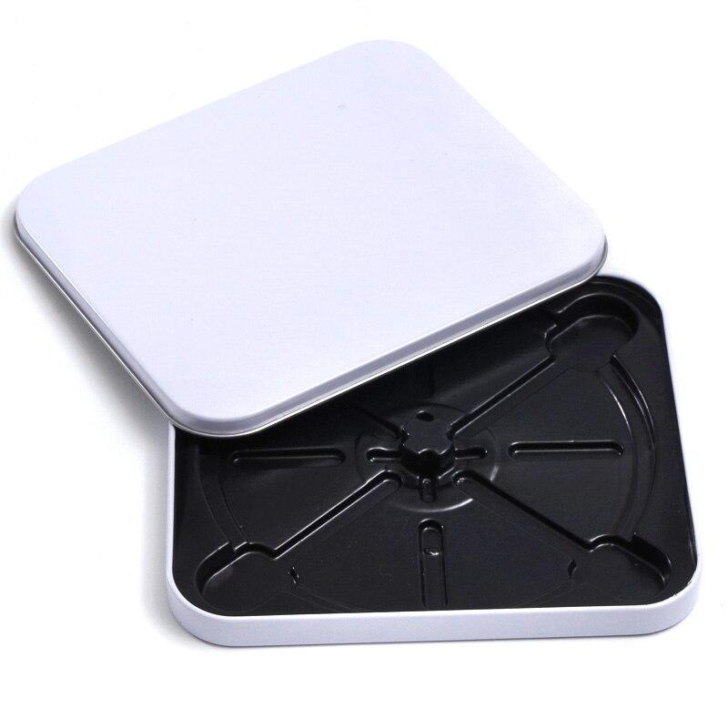 White Metal Bland DIY Storage Case Tin Box Muji Single CD/VCD/DVD Disk Disco Mp3/Mp4 CD Case