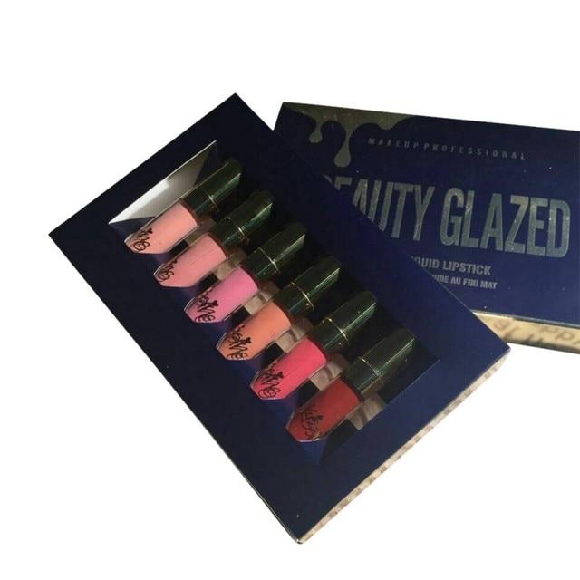 Hot 2017 Professional Makeup Liquid Matte Lipstick Lip Kit Gloss Long Lasting Lipstick Set Cosmetics New Lip Gloss