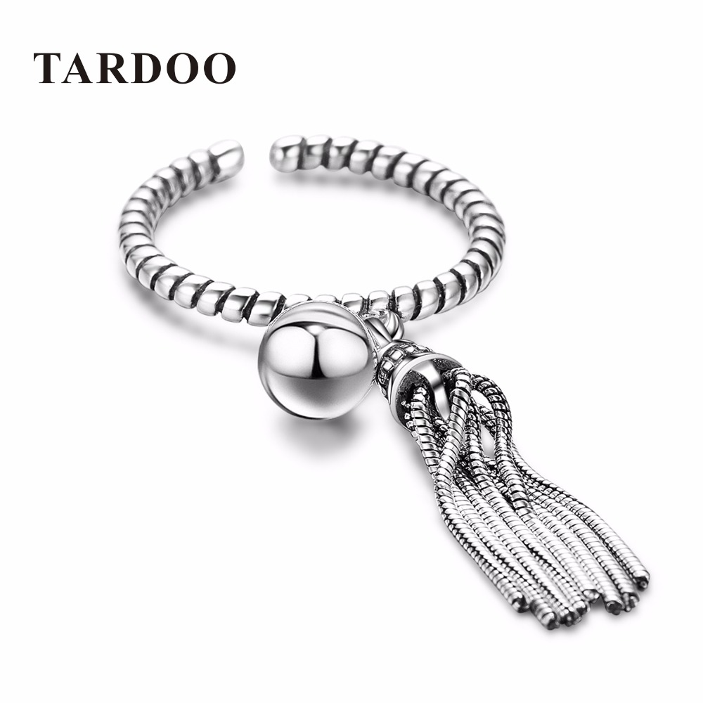 TARDOO Real 925 Sterling Silver Rings for Women Statement Cuff Adjustable Ring Sterling Silver Jewelry for