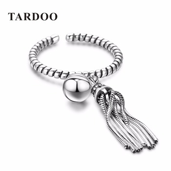 TARDOO Real 925 Sterling Silver Rings for Women Statement Cuff Adjustable Ring Sterling-Silver-Jewelry for New Year Gift
