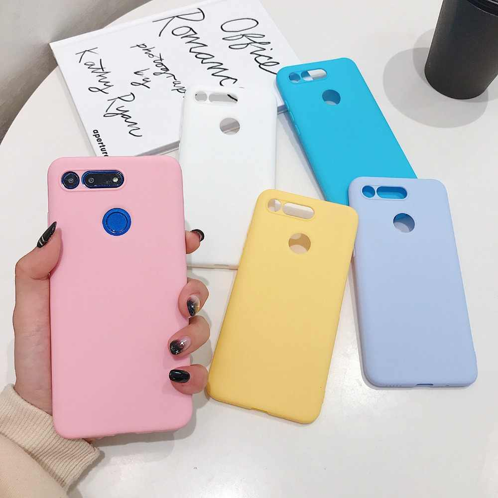 Candy Kleur Soft TPU Siliconen Telefoon Case Cover Voor Huawei P20 P30 Mate 10 20 X Pro Lite Nova 3 3i 4 4e Shockproof Capa Coque