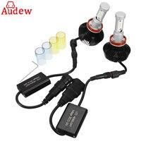 White Yellow H7 LED Bulb Car Headlight Kit Auto Fog Light Lamp 160W No Error Headlamp