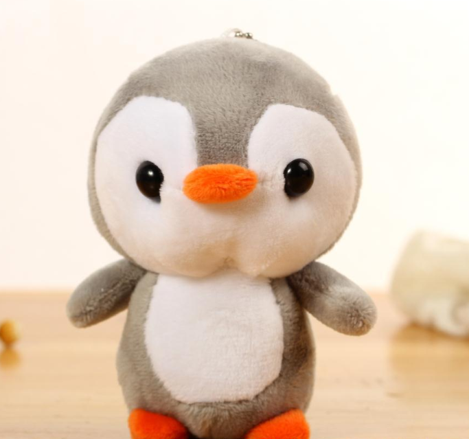 2019 Little Cute 10cm Plush Penguin Pet Figurine Approx Small Penguin Little Plush Stuffed Toys Gift Baby Toys 4Colors