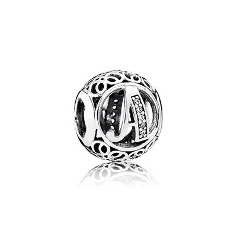 Изящные Украшения, подлинный Браслет из стерлингового серебра 925 пробы с английской буквой 26 для ожерелий, сделай сам, подходит для подарка ...