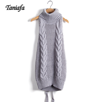 TANIAFA Hot Turtleneck Sleeveless Sweater Sexy Japanes Knitted Sexy Backless Women Sweaters And Pullovers Virgin Killer Sweater