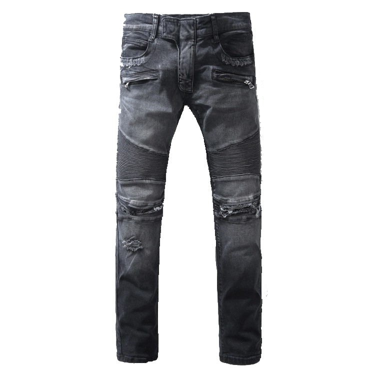 ФОТО 2016 New Men Nightclubs gray hore Jeans,Famous Brand Fashion Designer Denim Jeans Men,plus-size 28-40, casual jeans