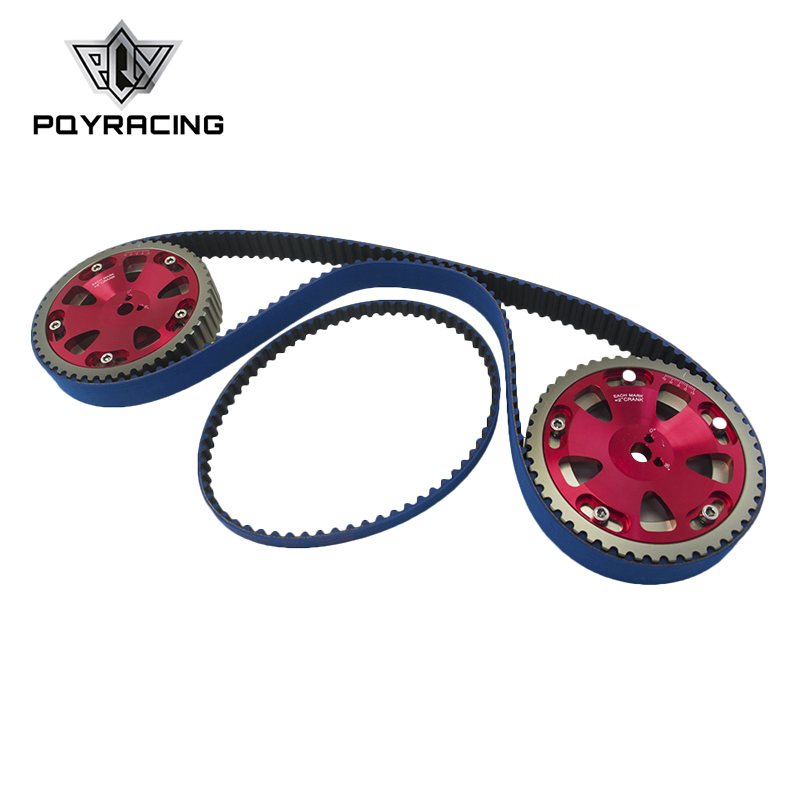 PQY - HNBR Racing Timing Belt + Balance + Aluminum Cam Gear FOR EV01-3 4G63 PQY-TB1007B+6538R цены
