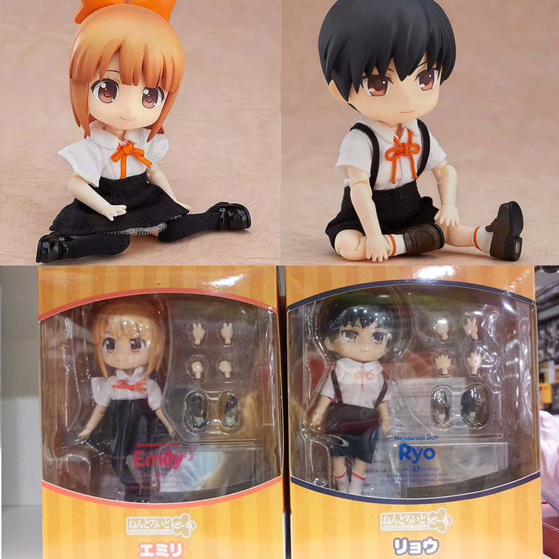 Real Clothes Can Be Undressed Nendoroid GSC Emily Ryo PVC Action Figure Collection Model Toys Doll