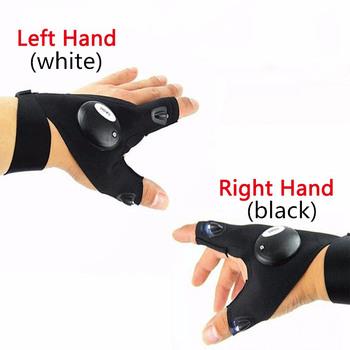 Noc wodoodporne rękawice wędkarskie z wysoką jasna dioda led narzędzia ratownicze sprzęt turystyczny oddychający praktyczny trwały 20 tanie i dobre opinie ONTO-MATO Fishing Glove Trwałe Wodoodporna