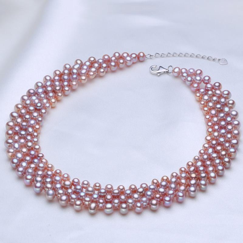 Collier ras du cou en perles d'eau douce naturelles collier vintage en perles muiltlaye pour femmes petit collier clavicule en perles-in Colliers from Bijoux et Accessoires    3