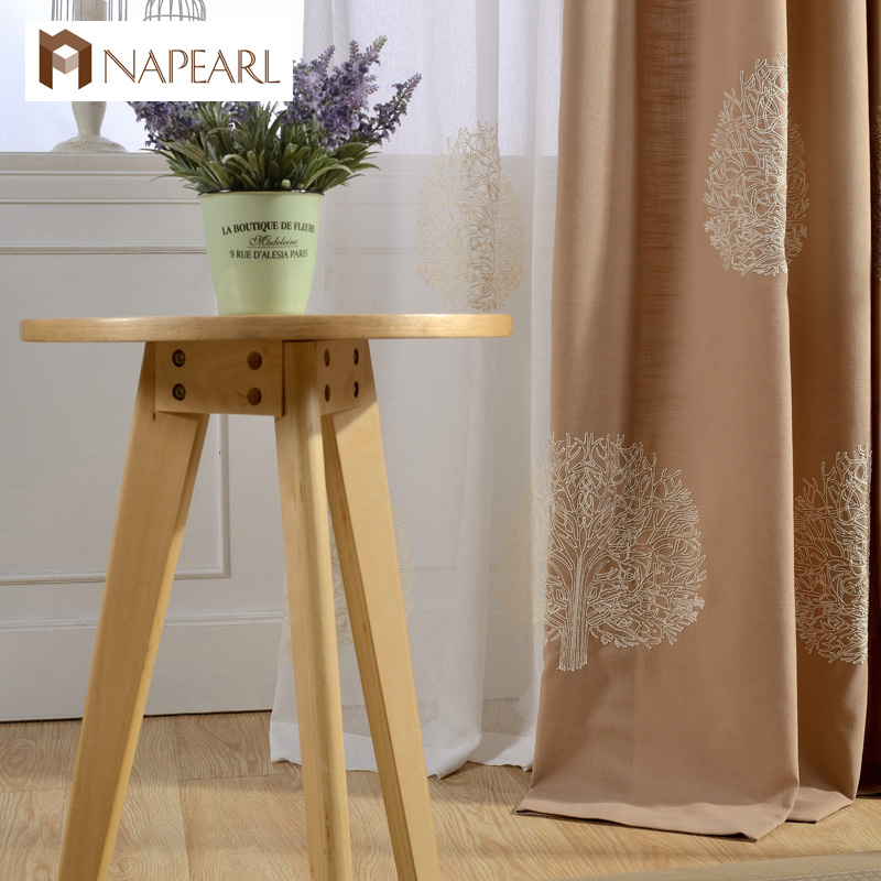 Rustic Design Modern Curtain Window Drapes Short Curtains Kitchen Embroidered Luxury Living Room
